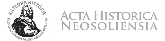 Acta historica Neosoliensia